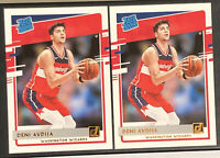 2020-21 Donruss Deni Avdija Rated Rookie RC #205 Wizards - LOT OF 2 - BOTH MINT!