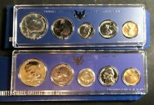 1966 & 1967 US Mint SMS (Special Mint Set) 5pc Coin Sets 40% Silver Half In OGP