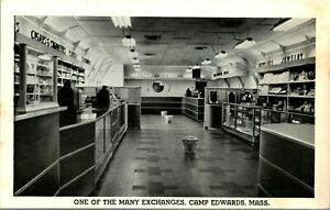 1940s Postcard Camp Edwards Massachusetts MA One of the Many Exchanges Hament