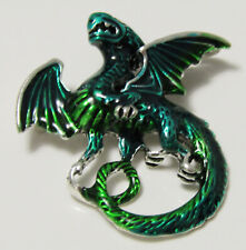 Stunning Flying DRAGON Brooch Pin - Green Color - Brand New