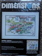 Dimensions Cottage Garden Stamped Cross Stitch Kit- Sealed
