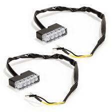 2x Universal 5 LED 12V Turn Signal Motorcycle Mini Blinkers Front Rear Peg Light