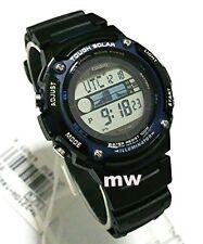Casio Men Sport Digital 5 Alarms Black Resin Watch W-S210H-1AVDF W-S210H-1A