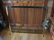 Vintage Pierced Iron Mesh Fireplace Screen