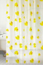 Modern DESIGNER Rubber Duck Theme Shower Curtain With 12 Hooks 180 X 180cm