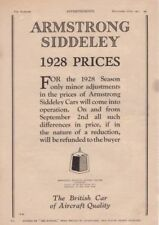 RF2036 1927 27 Armstrong Siddeley Vtg The AutoCar Magazine Ad