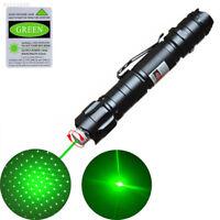 E1DE High Power Green Laser Pointer 10 Miles 532nm Lamp pen Signal All sky star