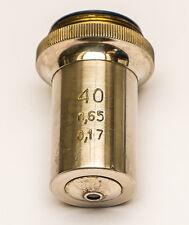 LOMO industrie microscope objectif 40x 0.65 0.17 RMS pour Zeiss Lietz olympus etc