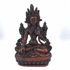 WHITE TARA Tibetan Buddhist Statue Handmade from Nepal 6 Inch - LIMITED EDITION