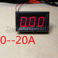 DC 0 To 20A Red LED Panel Meter Mini Digital Ammeter