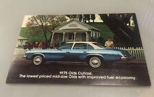 "1975 75 Oldsmobile Cutlass 4 Door Original 5x7""  Postcard MINT"