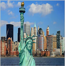 10x10FT New York City Skyline Liberty Statue Custom Photo Background Backdrop