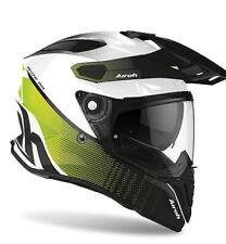 Motorcycle Helmet Motard Enduro off Road Airoh Commander Progress White Lime