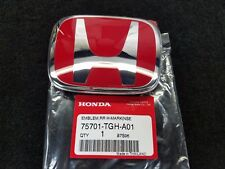 GENUINE HONDA CIVIC 5DR HATCHBACK TYPE-R REAR RED H EMBLEM 75701-TGH-A01