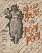 Sheet Music and Playbill for Pom Pom With Mizzi Hajos her Photo on cover 1916