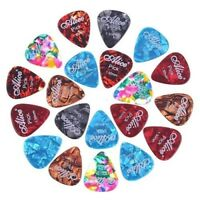 Alice 20x 1.5mm Smooth Colorful Celluloid Guitar Picks Plectrum P0O6