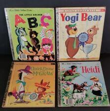 VINTAGE, LITTLE GOLDEN BOOKS-FOUR-Heidi-ABC-,YOGI BEAR,MCGRAW.