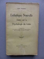 Léon PASCHAL, ESTHÉTIQUE NOUVELLE FONDÉE SUR LA PSYCHOLOGIE DU GÉNIE, EO
