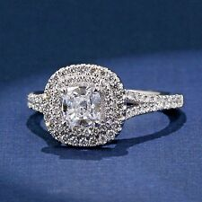 Stunning Double Halo Cushion Cut Engagement Ring A Jaffe Style MES574 1CT Center