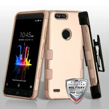 ROSE GOLD TUFF COVER + CLIP /STAND+SCREEN FILM FOR ZTE Blade Z Max Z98