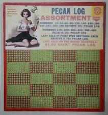 VINTAGE, UNUSED, GAMBLING PUNCH BOARD TRADE STIMULATOR W/ PINUP ART