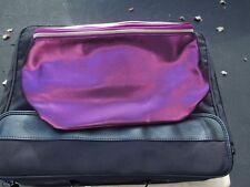 Lancome cranberry cosmetics bag bucket style NWOT