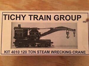 HO Tichy Train Group 4010 MOW 120 Ton Steam Weeckimg Crane Unassembled Kit