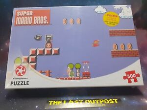 Super Mario 500 piece Jigsaw puzzle plus poster. BRAND NEW FACTORY SEALED