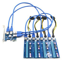 1 to 4 Adapter 4-port PCI-E to USB 3.0 Extender Card PCIe Port Multiplier Card