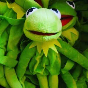 Kermit The Frog Plush BackPack Rucksack Bag Disney  Muppets NEW Free P&P Plushie