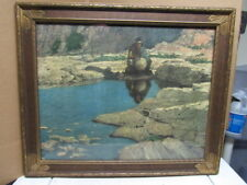 "Robert Wesley Amick ""Enchanted Pool"" Vintage Signed Lithograph/Print Western"