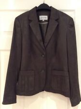 Bnwot Jacket From Next In Olive Green Faux Suedette Fabric Fully Lined Size 12.