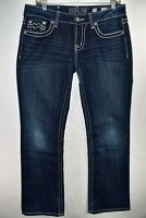 Miss Me Jeans Easy Boot Bootcut Cut Size 29 Medium Wash Meas. 31x31.5 Stretch