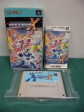 SNES -- ROCKMAN X MEGAMAN -- Boxed. Japan game. damage. work fully. 13772