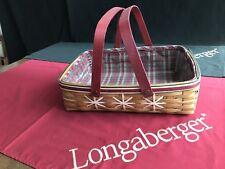 Longaberger Holiday Hostess Lg. Snowflake Cookie Basket set - New