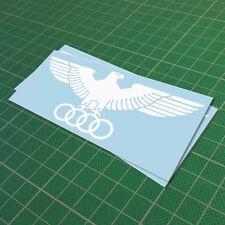 Audi Eagle Rings Luftwaffe Decal Vinyl Funny Car Window Bumper JDM Euro Sticker