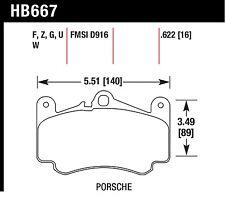 Hawk Performance HB667U.622 Unbeatable Pad And Rotor Wear Disc Brake Pads
