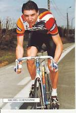 CYCLISME carte cycliste MICHEL CORNELISSE équipe PANASONIC ISOSTAR 1989