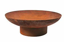 Rusted Fire Pit 90cm Patio Heater Outdoor Open Fireplace Garden Plant Bowl