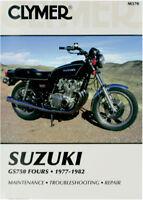 Clymer M370 1977-1982 Suzuki GS750 Fours Maintenance Repair Service Shop Manual