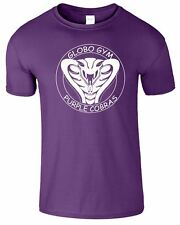 Globo Gym Mens T Shirt Gym Crossfit DodgeBall Movie Purple Cobras Top Tee Tshirt