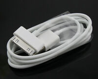 2 x 1m ORIGINAL iPhone 4 4S 3G 3GS iPod & iPad Charger USB Lead Data Sync Cable