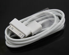 2 X 1m Original iPhone 4 4S 3G 3GS iPod & iPad Cargador USB Cable de sincronización de datos de plomo
