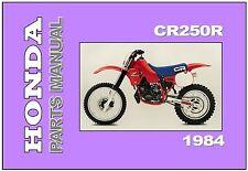 HONDA Parts Manual CR250R CR250 1984 Replacement Spares Catalog List