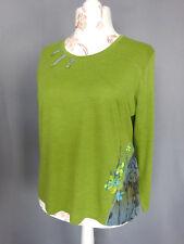 Size Shirts Woman Lewinger Wool Jacquard Vintage 90 Size Fr48 Us16 Uk20
