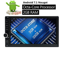 """Octa-Core Android 7.1 WIFI&4G 7"""" Double 2DIN Car Stereo Radio GPS Navi TPMS DAB+"""