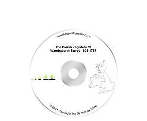 The Parish Registers Of Wandsworth Surrey 1603-1787