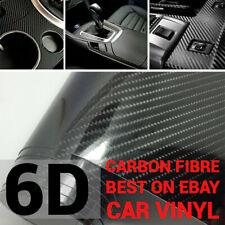 1M x1.51M 6D Gloss Black Carbon Fibre Fiber Vinyl Car Wrap Air Release Film MELB