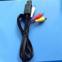 1pcs 1.8m RCA AV Cable De Audio Y Vídeo Para Super Nintendo Gamecube 64 N64 S[