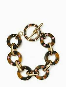 Kate Spade Tortoise Shell Bracelet NWT Out of Her Shell Lovely Links DH